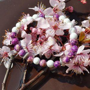 nostalgia bracelets bratari unisex din agate royal si turcoaz alb syringa